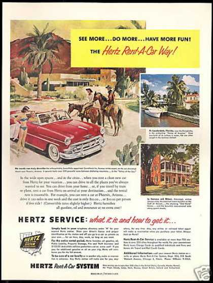 Hertz Rent A Car Camelback Inn AZ. Resort (1954)