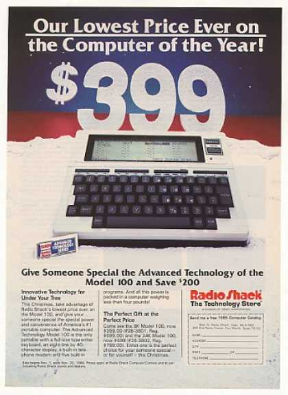 Radio Shack TRS-80 Model 100 Portable Computer (1984)