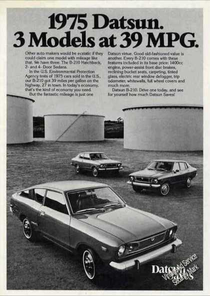 "Datsun ""3 Models at 39 Mpg"" Collectible (1975)"