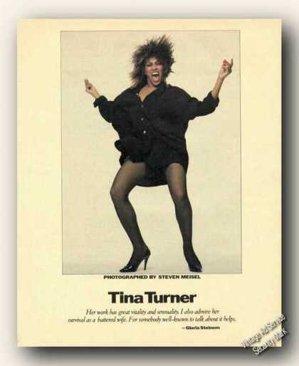 Tina Turner Color Photo Print Feature (1984)