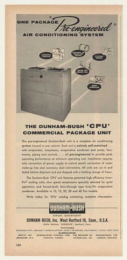 Dunham-Bush CPU Air Conditioning System Trade (1957)