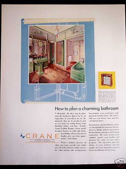 Crane Bathroom Design Retro 30's Decor (1931)