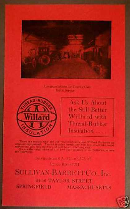 Willard Battery Service Sullivan Barrett (1922)