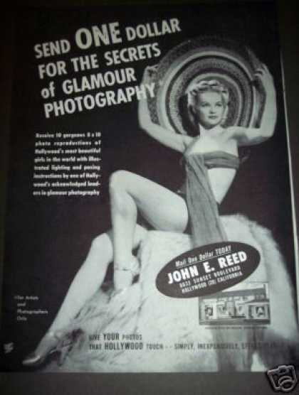 Original Glamour Girl Photography Ad John E. Reed (1947)