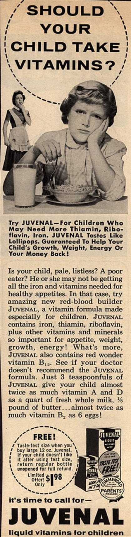 Unknown's Juvenal – Should Your Child Take Vitamins? (1958)