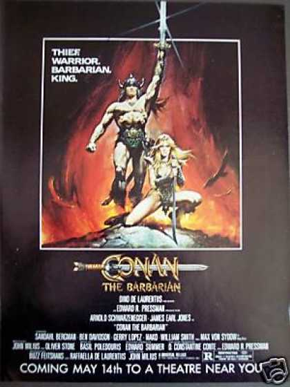 Conan the Barbarian Schwarzenegger Movie Promo (1982)