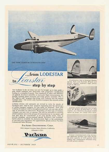 PacAero Lodestar to Learstar Airplane (1957)