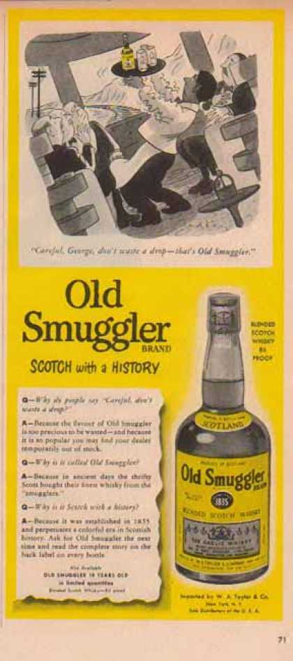 Old Smuggler Scotch – Train Travel, Careful George (1951)