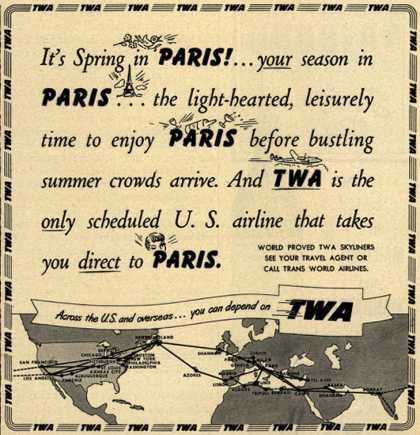 Trans World Airline's Paris – It's Spring in Paris (1950)
