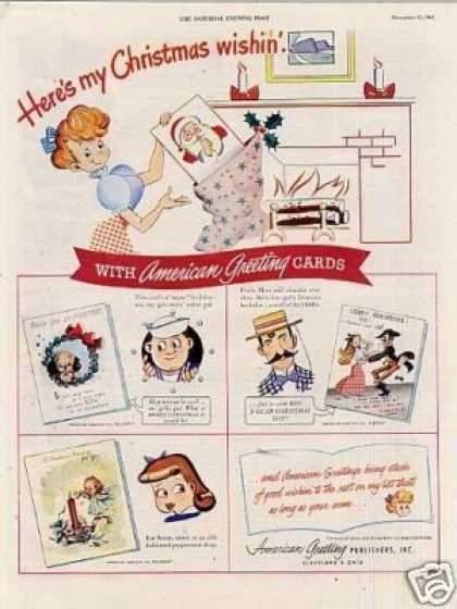 American Greeting Christmas Cards (1945)