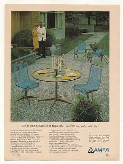 Ames Furniture Cabana Star Patio Dining Set (1965)
