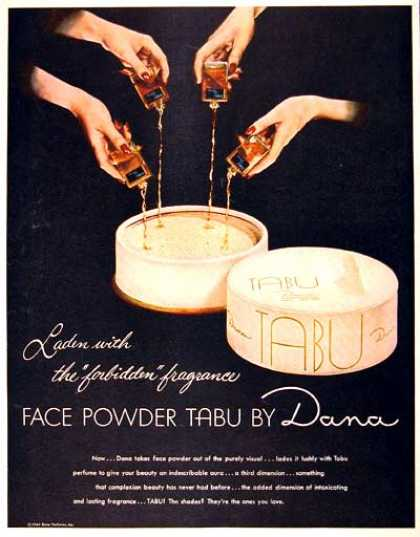 Dana Tabu Face Powder (1946)
