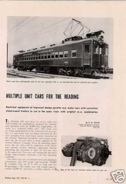 """Multiple Unit Cars for the Reading"" Article/rdg (1949)"