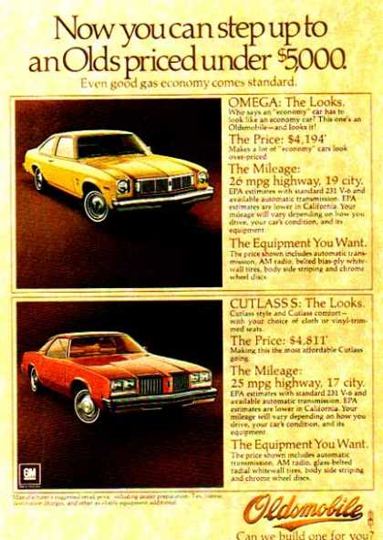 Oldsmobile Car – 2 Cars – Omega & Cutlass – Yellow & Red (1976)
