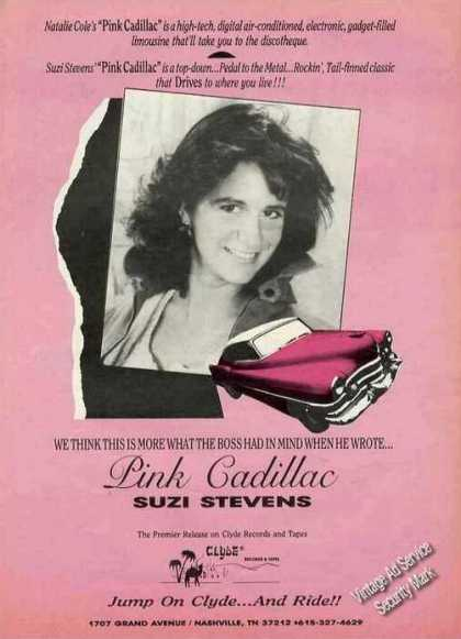 "Suzi Stevens Photo ""Pink Cadillac"" Album (1988)"
