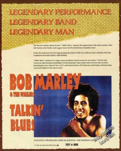 Bob Marley Photo Talkin' Blues Album Promo (1991)