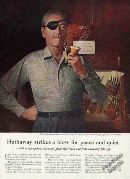 Hathaway Strikes Blow for Peace & Quiet Shirts (1961)