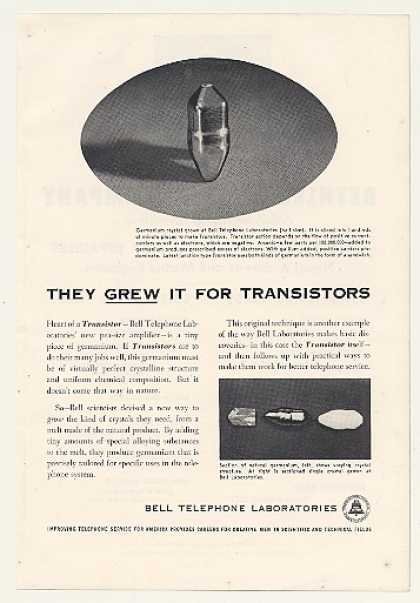 Bell Telephone Germanium Crystal Transistors (1954)