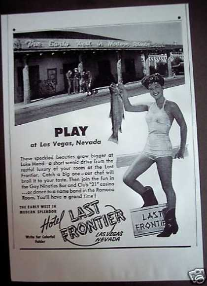Las Vegas Last Frontier Hotel Lake Mead Travel (1946)