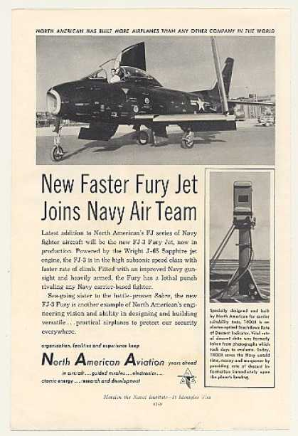 '54 North American Aviation Navy FJ-3 Fury Jet Photo (1954)