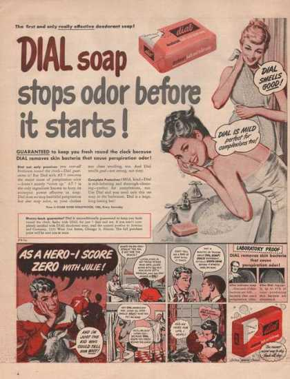 Dial Soap Stops Odor Before It Starts (1949)