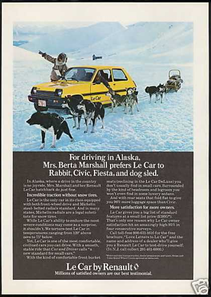 Renault Le Car Photo Alaska Dog Sled Husky (1979)