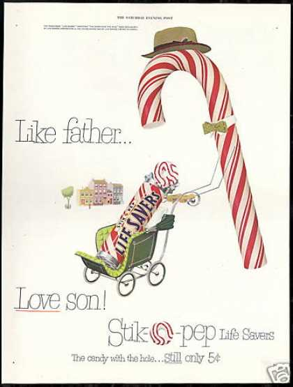 Life Savers Candycane Father Son Stroller (1951)