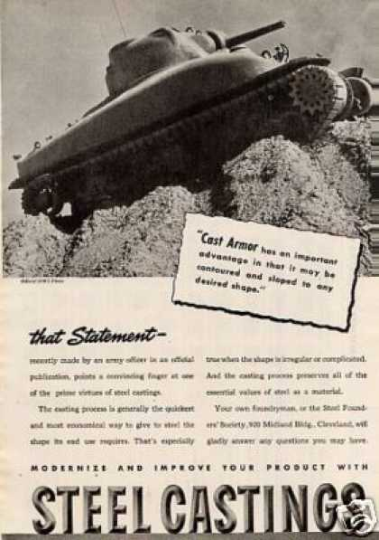 Wwii Steel Castings Ad Tank (1944)