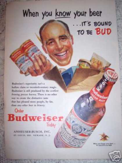 Budweiser Bound To Be Bud Beer (1953)