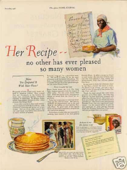 "Aunt Jemima Pancakes Color Ad ""Her Recipe... (1926)"