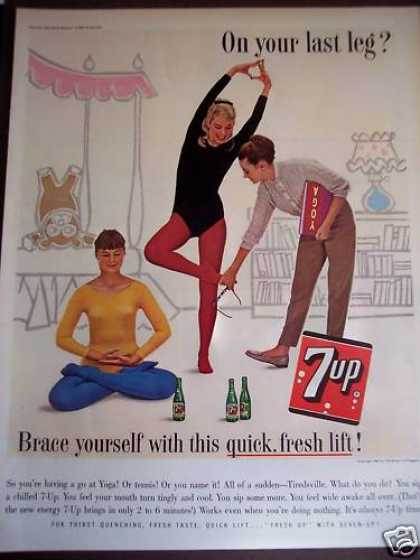 7-up Seven-up Soft Drink Soda Yoga (1963)