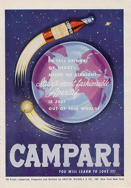 Campri Rocket Moon Orbit Earth (1964)