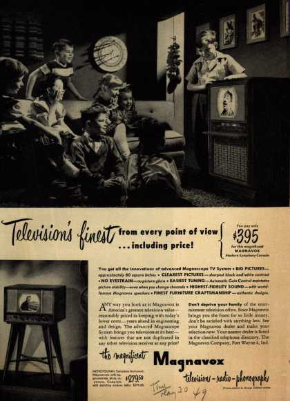 Magnavox Company's various – Television's first from every point of view... including price (1949)