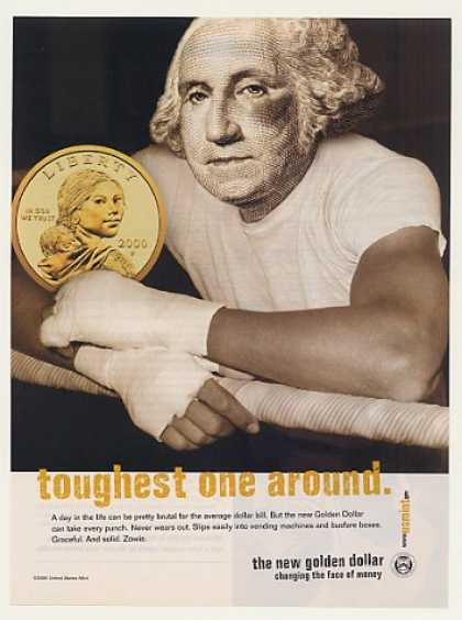 Gold Golden Dollar Toughest One Around US Mint (2000)