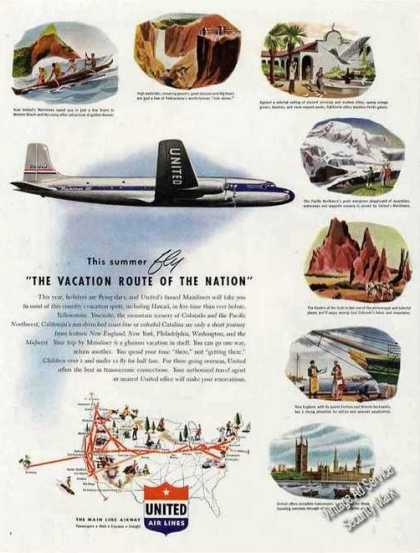 "United Air Lines ""Vacation Route of the Nation"" (1947)"