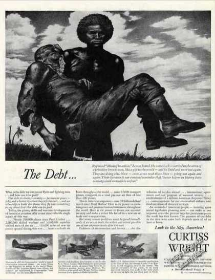 "Wwii ""Debt Owed To Our Flyers"" Curtiss Wright (1944)"