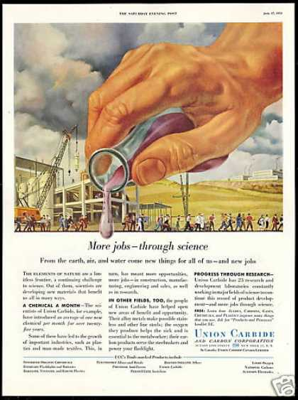 Union Carbide New Materials New Jobs (1954)