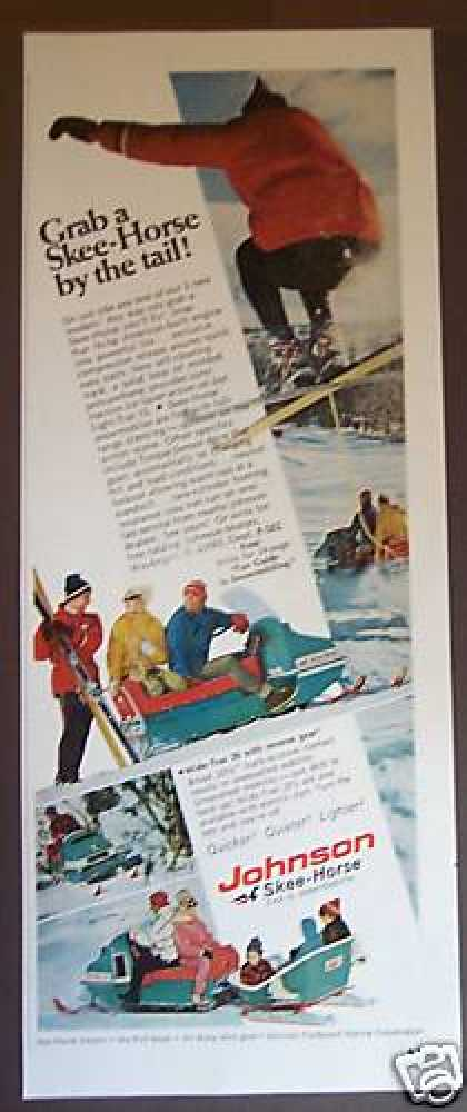 Johnson Ski-horse Ski-jump Snowmobile Photo (1967)