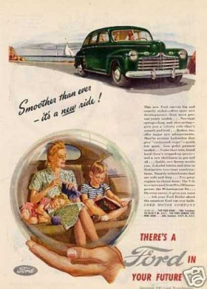"Ford Car Ad ""Smoother Than Over... (1946)"
