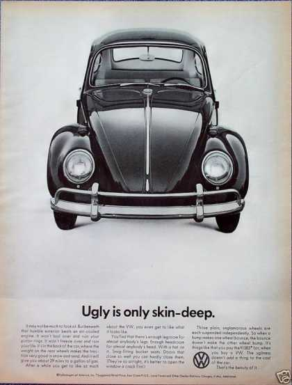 Volkswagen Beetle Bug Ugly Is Only Skin Deep (1966)
