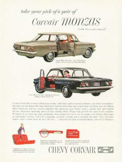 Chevy Chevrolet Corvair Monza 2 & 4-door (1961)