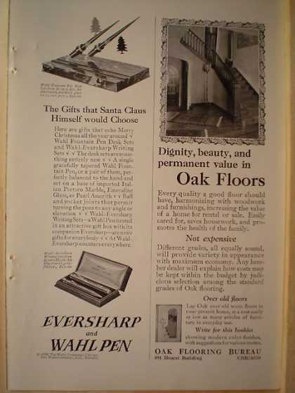 Eversharp and Wahl Pen Gifts Santa would choose 1/2 pg (1926)