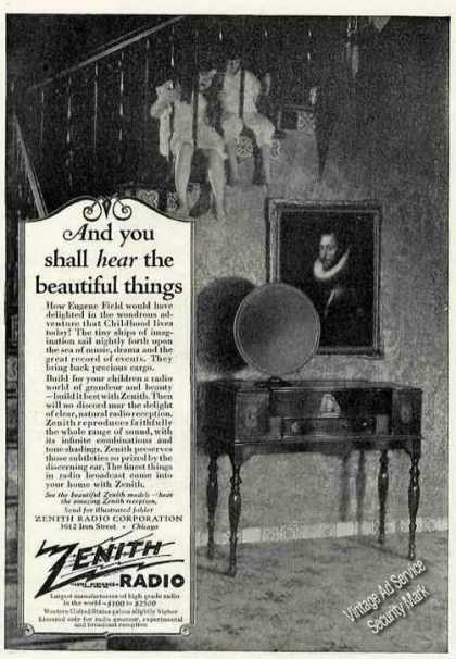 """You Shall Hear the Beautiful Things"" Zenith (1927)"