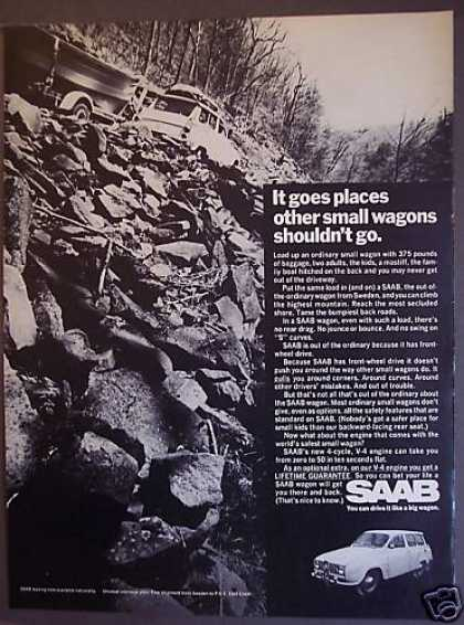 "Saab ""Drive It Like a Big Wagon"" Car (1968)"