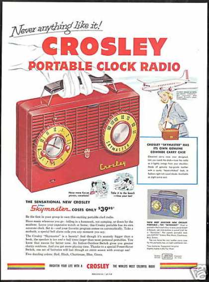 Crosley Skymaster Skyrocket Portable Radio (1953)