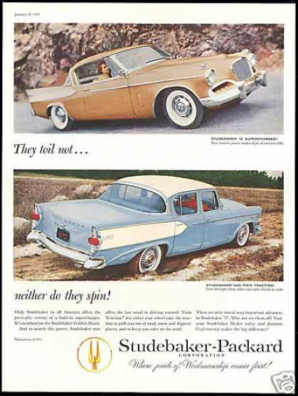Studebaker Golden Hawk & 4 Door Car Photo (1957)
