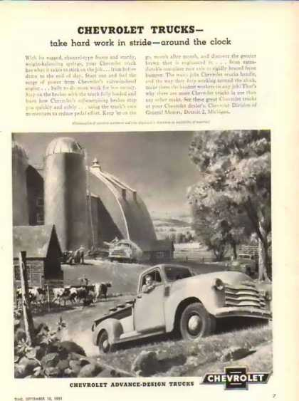 Chevrolet Trucks – Hard work in stride – Sold (1951)