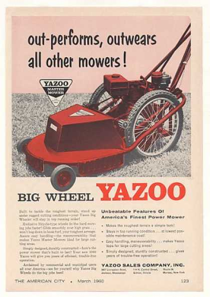 Yazoo Big Wheel Power Lawn Mower (1960)