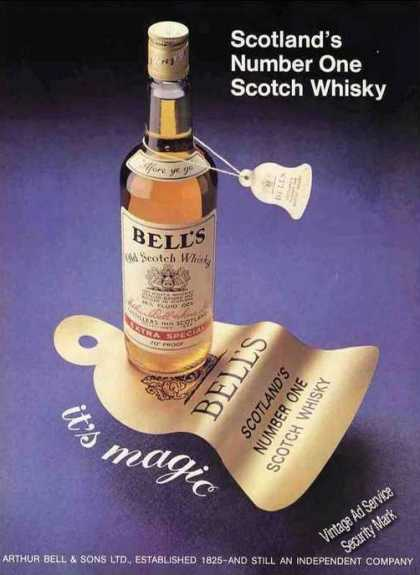 "Bell's ""Scotlands Number One Scotch Whiskey"" Uk (1977)"