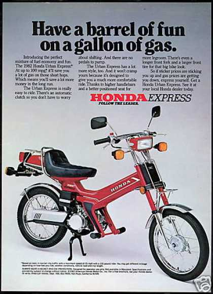 Honda Urban Express Motor Bike Photo (1982)